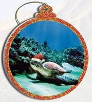 Hawaii Christmas Ornament - Turtle Santa