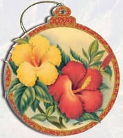 Hawaii Christmas Ornament - Hawaiian Hibiscus