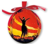 Hawaii Christmas Ornament Ball - Aloha OE (Set of 4)