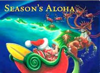 "Boxed 5""x7"" Hawaii Christmas Cards - Island Chain-Inland"