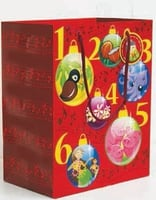Xmas Bag Medium Red 12 Days (set of 6)