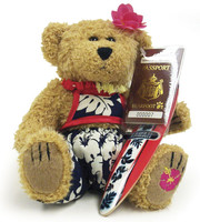 Bearfoot Hawaiian Collectible - Surfer Girl Bear