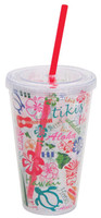 Tumbler with Straw Words of Hawaii