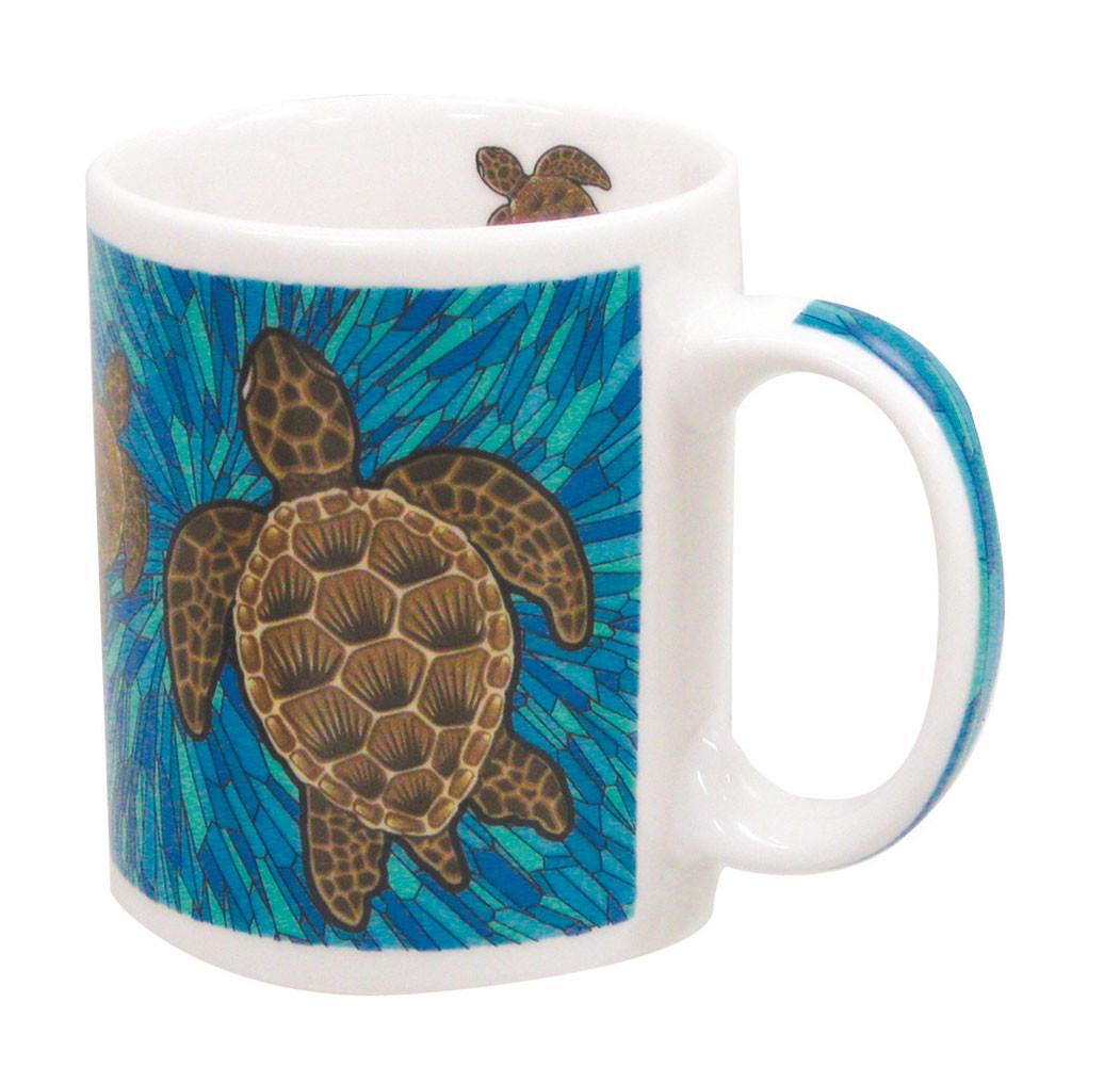 Honu glass ceramic tile trivet hawaiigifts mug 11oz honu glass dailygadgetfo Images
