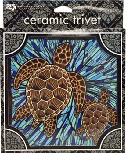 Honu Glass Ceramic Tile Trivet