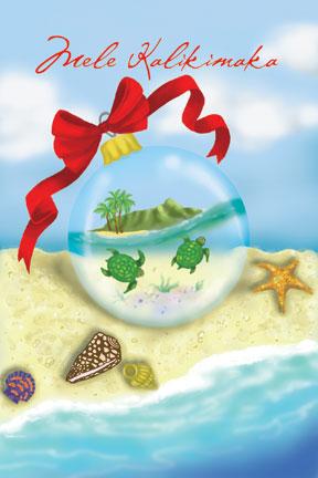 Christmas In Hawaii Images.Boxed 4 X6 Hawaii Christmas Cards Diamond Head Ornament