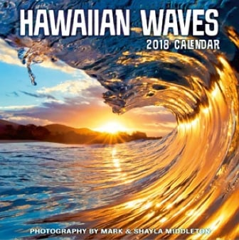 2018 Deluxe Calendar - Hawaiian Waves