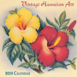 "Vintage Hawaiian Art - Deluxe 11"" x 11"" Wall Calendars"