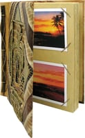 "9""x11"" Bamboo w/ 2 Palm Hawaii Photo Album"