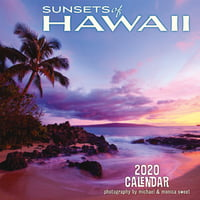 "Hawaii Sunsets - 11""x11"" Wall Calendar"