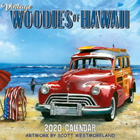 "Vintage Hawaiian Cars - 11""x11"" Wall Calendar"