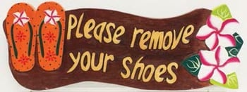 Sign - Please Remove Your Shoes