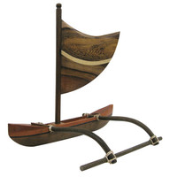 "CANOE MULTI WOOD 10"" OUTRIGGER"